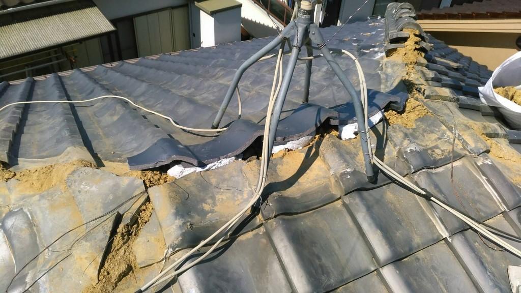瓦屋根 雨漏り 修繕