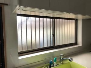 キッチン前窓、内窓取付前