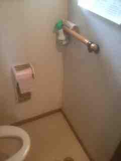 トイレ内手すり取付前