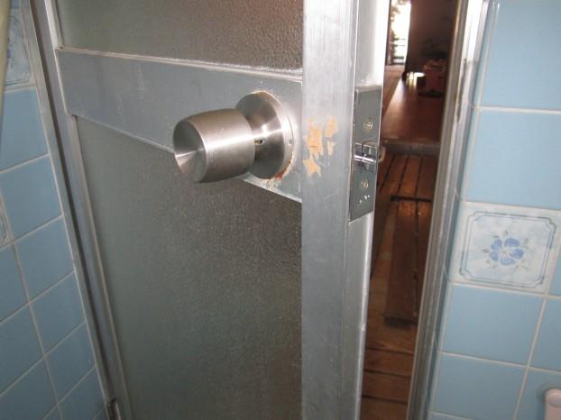 浴室ドアノブ