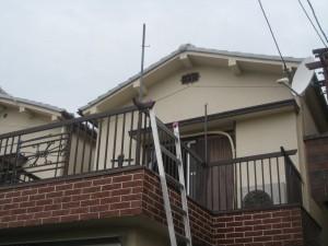 テラス屋根取付前