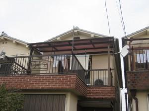 テラス屋根取付後