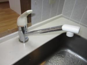 キッチン水栓取替前
