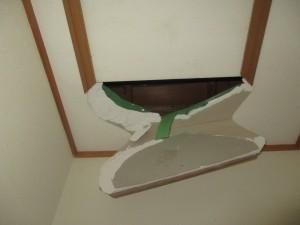 施工前収納天井