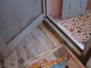 浴室ドア施工前