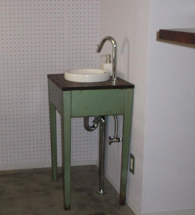 手作り洗面台